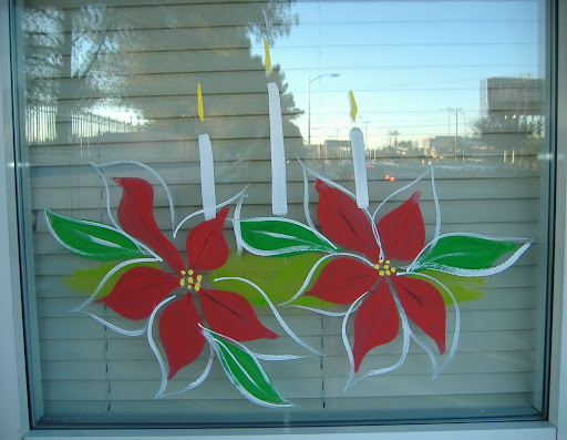 Candle and Poinsettia Design