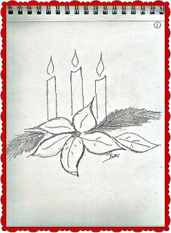 Sketchbook_Poinsettias_Candles03